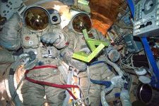 The Cosmic Dancer in the spacesuit compartment