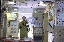 Cosmonaut Alexander Polischuk training with the Cosmic Dancer